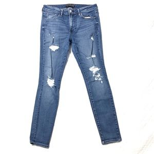 Abercrombie mid-rise distressed skinny jeans 5308